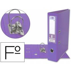 Archivador de palanca Liderpapel folio lila lomo 75mm