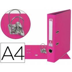 Archivador de palanca Liderpapel A4 rosa compresor metalico