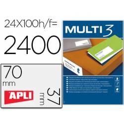 100 Etiquetas Apli adhesivas Multi3 70x37 mm A4