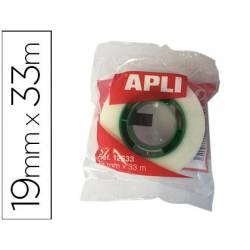 Cinta adhesiva invisible Apli 33 m x 19 mm