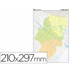 Mapa mudo político Aragón Din A4