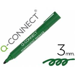 Rotulador Q-Connect punta de fibra permanente 3 mm verde
