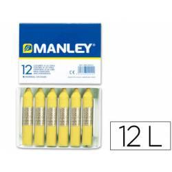 Lapices cera blanda Manley caja 12 unidades color verde amarillo claro