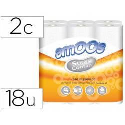 Papel higienico Amoos 2 capas 120x29 mm