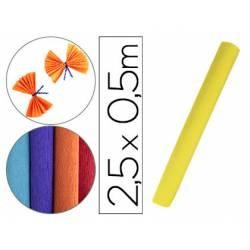 Papel crespon Liderpapel rollo 50x2,5cm 85 g/m2 amarillo