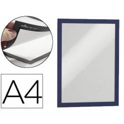Porta anuncios magnetico adhesivo A4 azul
