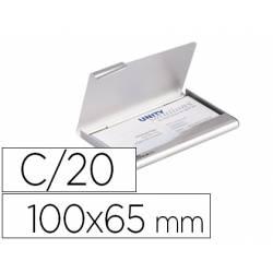 Tarjetero Durable aluminio color plata 20 tarjetas