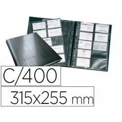 Tarjetero Durable A4 polipropileno negro 20 fundas