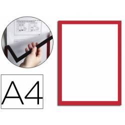 Marco porta anuncios magnético A4 color Rojo