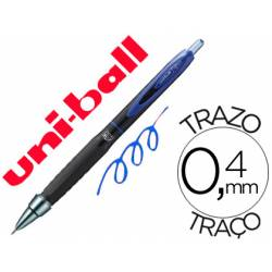 Bolígrafo uni-ball UMN-307 roller retráctil tinta gel azul 0,4 mm