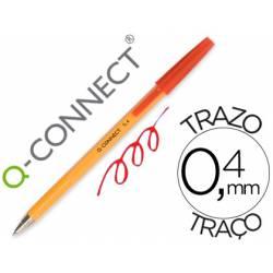 Boligrafo naranja Q-Connect color Rojo Fino