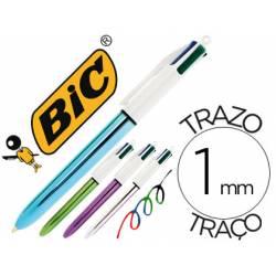 Boligrafo Bic 4 colores Shine 0,4 mm