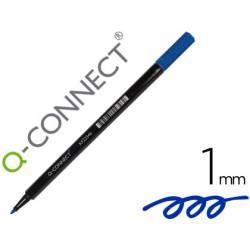Rotulador Q-Connect punta de fibra redonda 1mm Azul