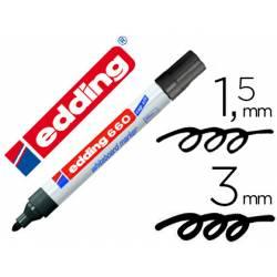 Rotulador para pizarra blanca Edding 660 negro recargable