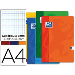 Libreta Escolar Oxford DIN A4 48 hojas Cuadriculado de 5 mm Colores Surtidos. No se puede eleguir color