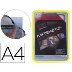 Marco Tarifold Din A4 magnetico amarillo pack de 2