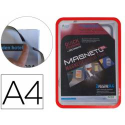 Marco Tarifold Din A4 magnetico rojo pack de 2
