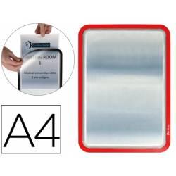 Marco Tarifold Din A4 adhesivo rojo pack de 2