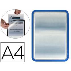Marco Tarifold Din A4 adhesivo azul pack de 2