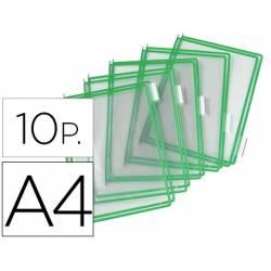Funda portacatalogo Tarifold Din A4 verde pack de 10