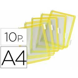 Funda portacatalogo Tarifold Din A4 amarillo pack de 10