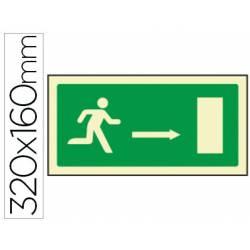 Señal Syssa salida emergencia flecha derecha
