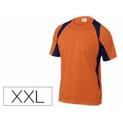 Camiseta manga corta Deltaplus color Naranja Talla XXL