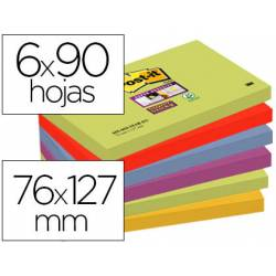 Pack 6 blocs Post-it ® 76 x 127 mm