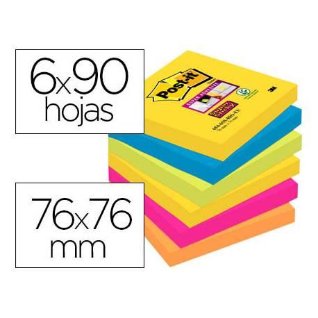 Pack blocs Post-it ® 76 x 76 mm encelofanados