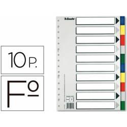 Separadores plastico Esselte Folio juego de 10