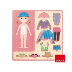Puzzle a partir de 3 años Vestir niña marca Goula