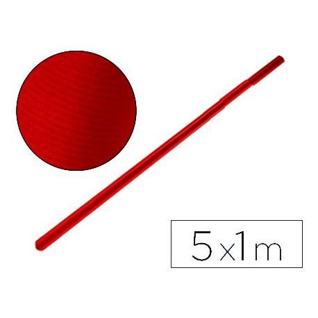 Bobina papel kraft Liderpapel 5 x 1 m rojo cherry