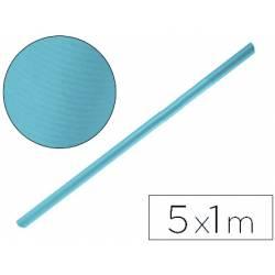 Bobina papel kraft Liderpapel 5 x 1 m azul turquesa