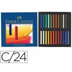 Tiza Faber Castell 24 unidades surtidos