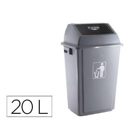 Papelera Q-Connect plastico 20 litros