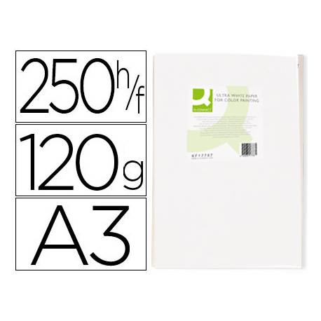 Papel fotocopiadora Q-Connect Ultra White DIN A3 120 Gramos