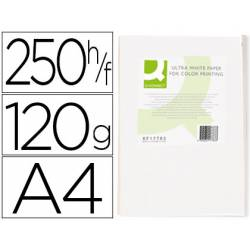 Papel fotocopiadora Q-Connect Ultra White DIN A4 120 Gramos