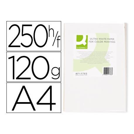 Papel fotocopiadora Q-Connect Ultra White DIN A4 120 Gramos