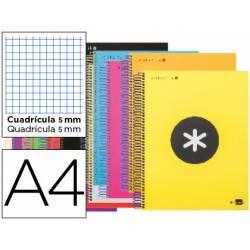 Bloc Antartik A4 Cuadrícula tapa Forrada 100g/m2 con Colores Surtidos 5 bandas color