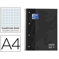 Cuaderno Oxford A4 Gris Tapa Extradura Cuadrícula 5 mm