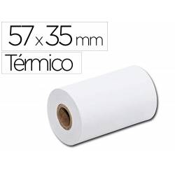 Rollo sumadora Q-Connect termico 57mm ancho x 35mm diametro