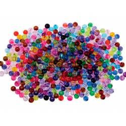 Cuentas de plástico Redondas 6 mm Colores surtidos marca itKrea