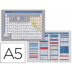 Tabla periodica de elementos impresa a doble cara A5