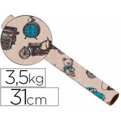 Bobina papel kraft Impresma 31 cm 3,5 kg havana 4337