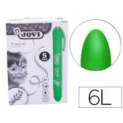 Barra maquillaje verde Jovi Twist Make-UP. Caja de 5 unidades