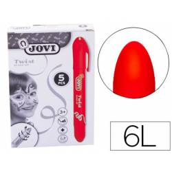 Barra maquillaje rojo Jovi Twist Make-UP. Caja de 5 unidades