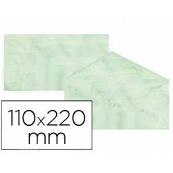 Sobre marmoleado Michel fantasia verde 25 sobres