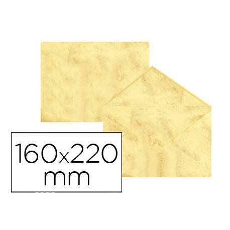 Sobre marmoleado Michel fantasia amarillo 160 x 220 mm