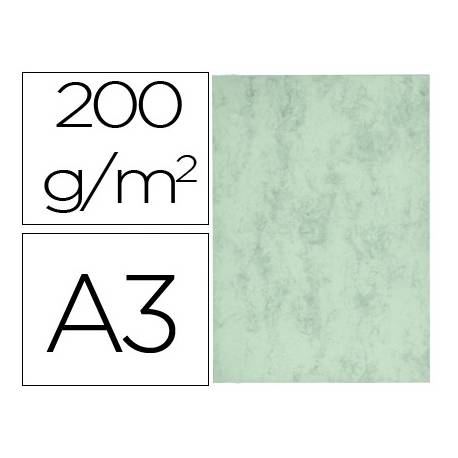 Cartulina marmoleada DIN A3 Verde