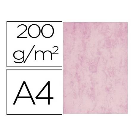 Cartulina marmoleada DIN A4 Rosa